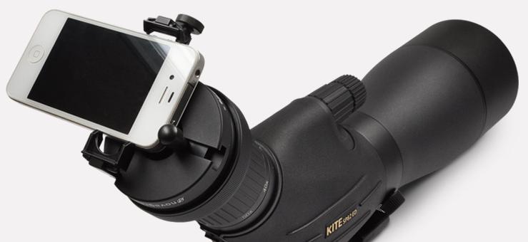 hookupz universal digiscoping smartphone adapter with mini tripod Carson hookupz universal smartphone digiscoping adapter with 6x18 mm telephoto lens monocular and mini adjustable tripod.